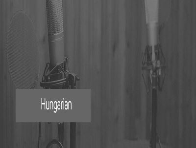 Record up to 30 words of voice over in Hungarian male/female