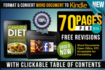 Format and Convert word document of 70 pages to kindle