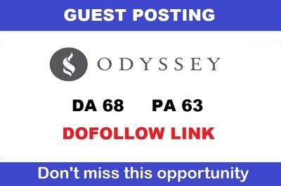 Publish a guest post on TheOdysseyOnline - DA68, TF47, DR63