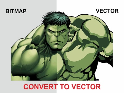 Convert, trace, redraw your logo or graphic to vector