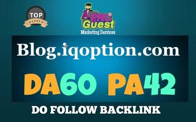 Guest Post on blog.iqoption.com – DA60 – PA42