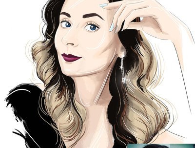 Draw custom fashion-style digital portrait
