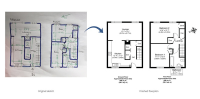 Convert your sketch into a floorplan for