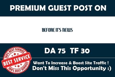 Write & Publish Guest Post on Beforeitsnews.com - DA 75
