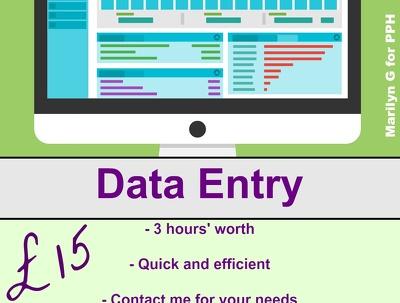 Do 3 hours' data entry