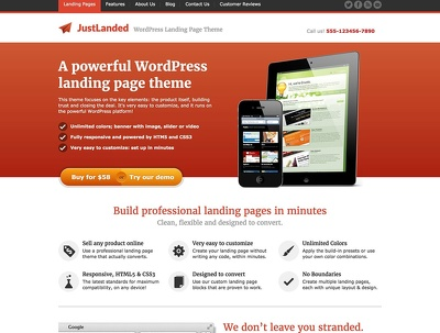 Create Highly Professional One Page Website In Low Cost