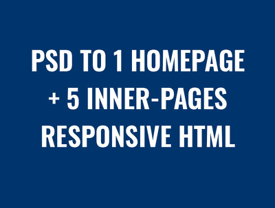 One homepage / Landing page htm with responsive one day complete