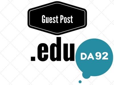Write & publish edu guest post on edu blog with DA 92