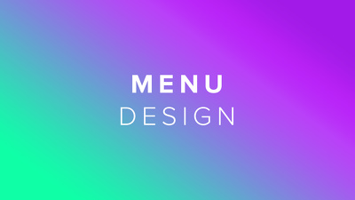 Design a professional page layout for your menu