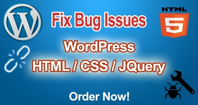 Fix Bugs In Wordpress And Html,Css,Jquery