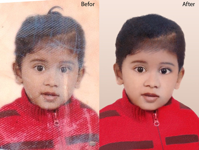 5 photo Retouching, Restoration and any Old photo Repair.