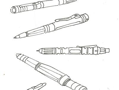 Hand sketch 2 stick figures
