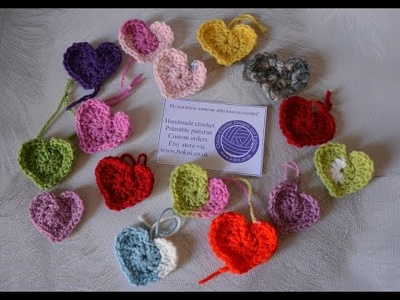 Crochet a beautiful heart baby blanket in any four colours