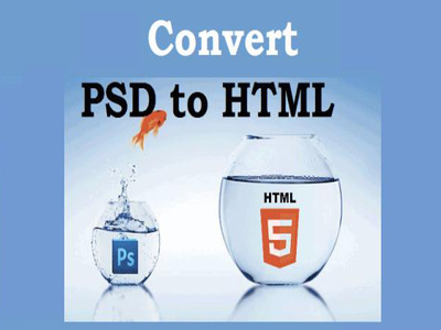 Convert psd to html with responsive layout