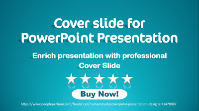Design cover slide of PowerPoint presentation