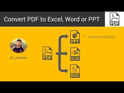 Convert Pdf To Excel, Word Or PPT