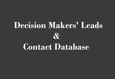 Collect 100 Decision maker' verified Leads