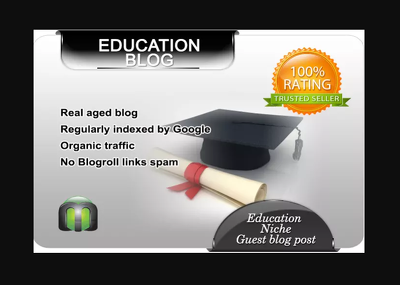 I will write and guest post on my education blog