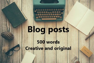 Write a creative and original 500 word blog post