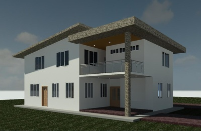 Make 3d architectural model/drawing with Revit