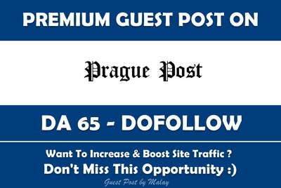 Publish Guest Post on Prague Post. PraguePost.com - DA65, PA75