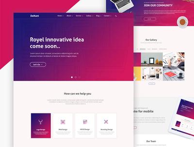 Create amazing  web template PSD  design for 25$