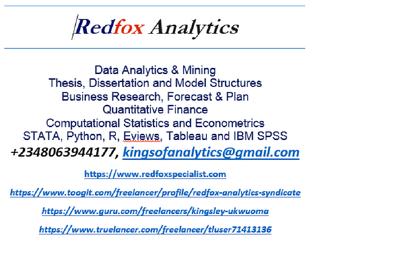 Analyse your data using Python/R/STATA