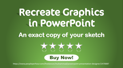 Recreate graphics, charts or custom shapes in PowerPoint