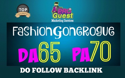 Publish a Guest post on Fashiongonerogue DA65, PA70