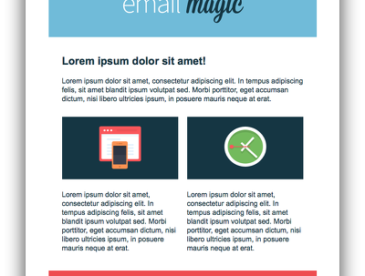 PSD to Clean HTML Email, Mailchimp Template Service