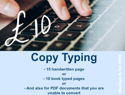 Copy type 15 handwritten pages or 10 book pages