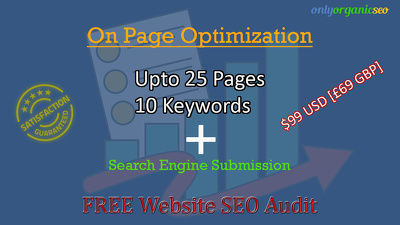 Onpage optimization upto 25 pages website