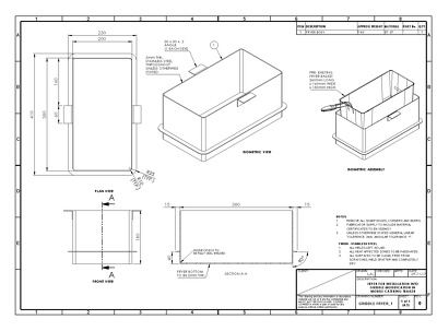 Convert hand drawn sketch into official fabrication drawings