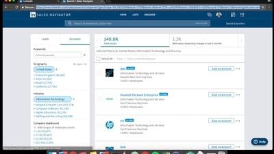 Desktop App to scrap leads on LinkedIn Sales Navigator
