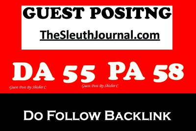 Guest post on TheSleuthJournal.com – thesleuthjournal – DA 55