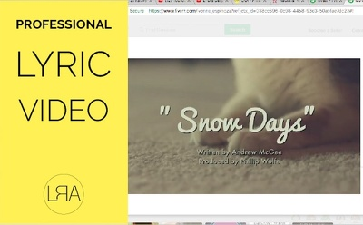 Create a lyric video for your song