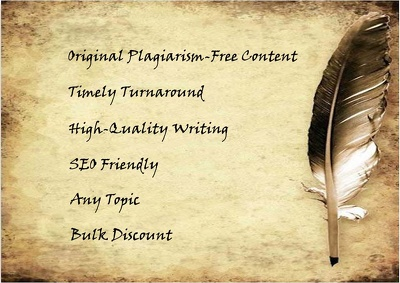 Write an original 800 word article or custom content for you