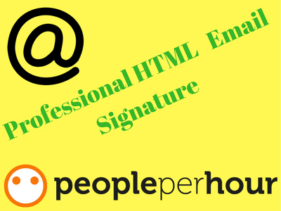 Provide HTML email signature