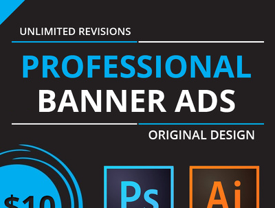 Design professional banner ads for you