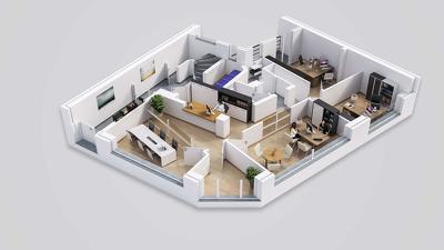 Create 3d floor plan Renderd