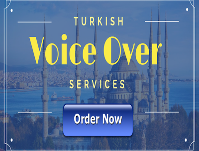 Record up to 30 words of voice over in Turkish male/female