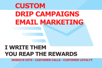 Write 1 drip campaign of 5 marketing emails