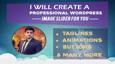 Design 2 Professional Wordpress Image Slider In 24 Hour