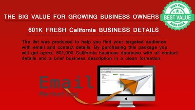 601K California businesses contact, address and all details