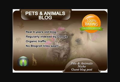 I will write and guest post on my pets blog