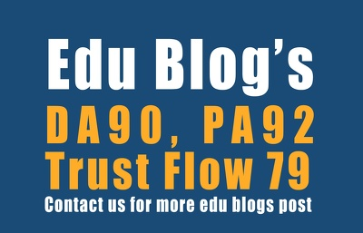 do 5 .Edu Guest Posts, DA43-90, Dofollow link