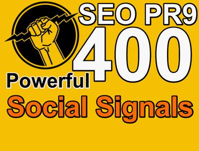 400 Powerful PR9 SEO Social Signals Buffer & Bitly  Shares