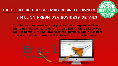 Deliver 9 Million Fresh USA Business Email, Phone & All Details