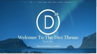 Create your wordpress site using Divi  theme