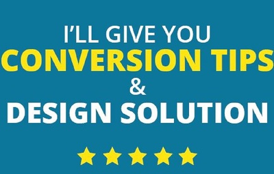 Increase your website conversion rate and give a design solution